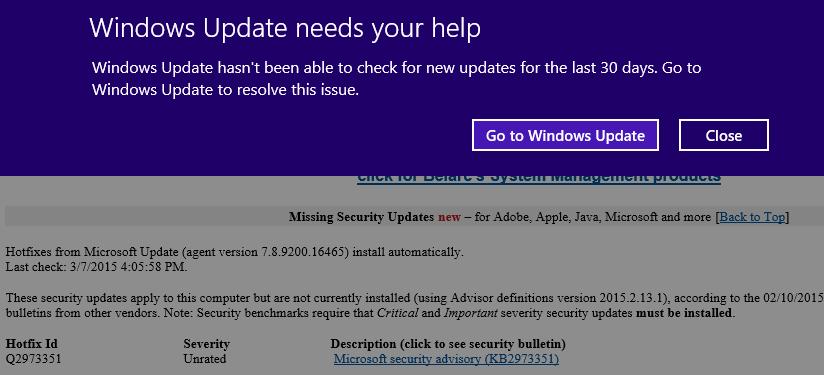 Windows Update needs your help